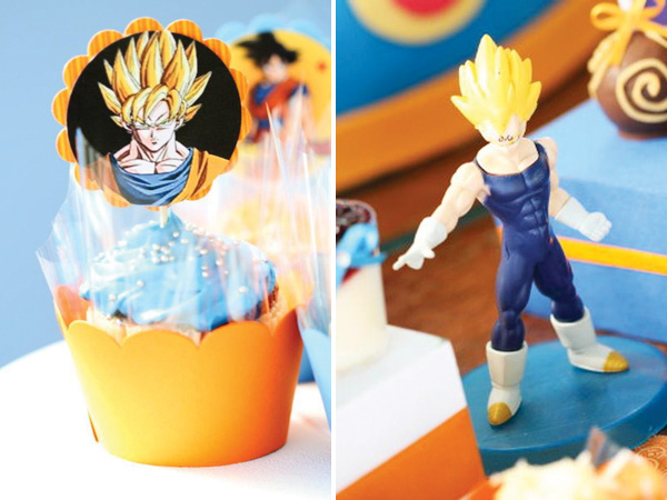 Decoración de Fiesta Infantil de Dragon Ball Z | Arcos con Globos ...