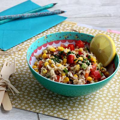 Illustration Salade de Riz - Céréales Anciennes  & Maïs