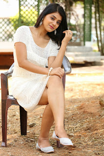 Yamini Bhaskar Cute Pics in Short White Pics Glam Pics must see