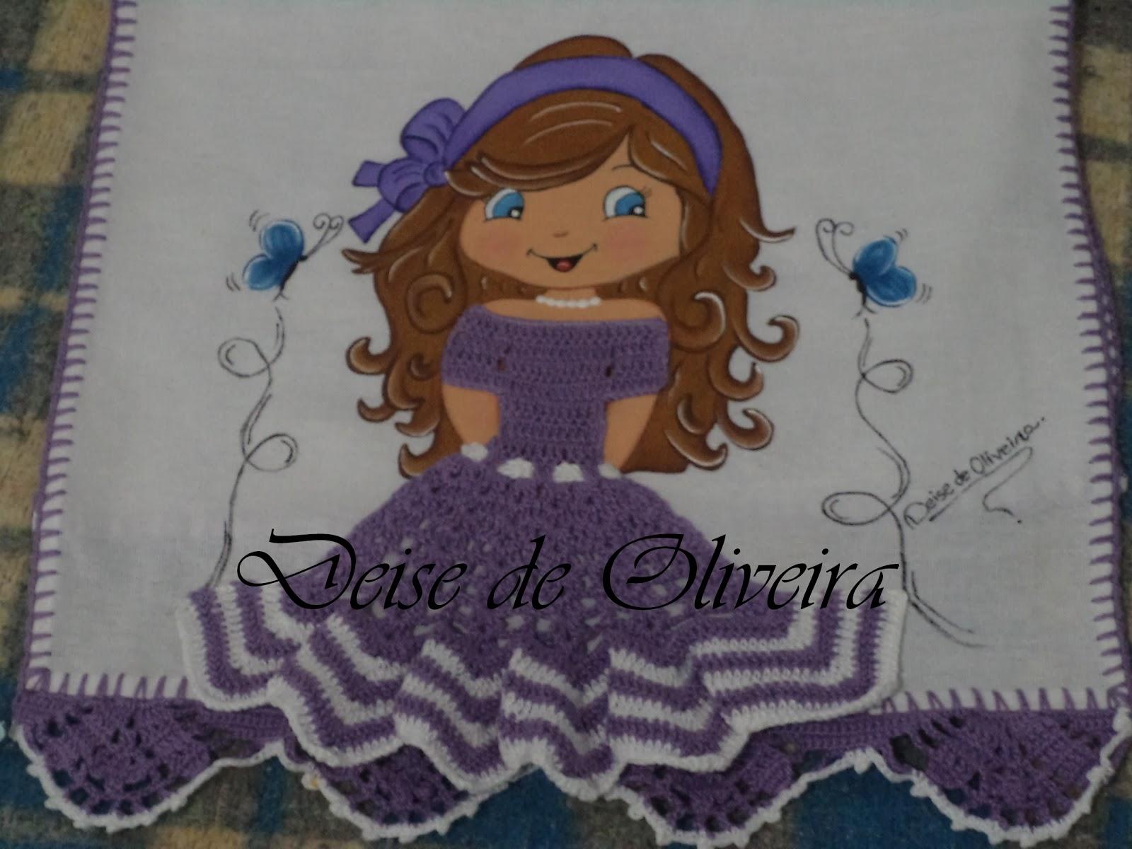 Bonecas com vestido de crochê