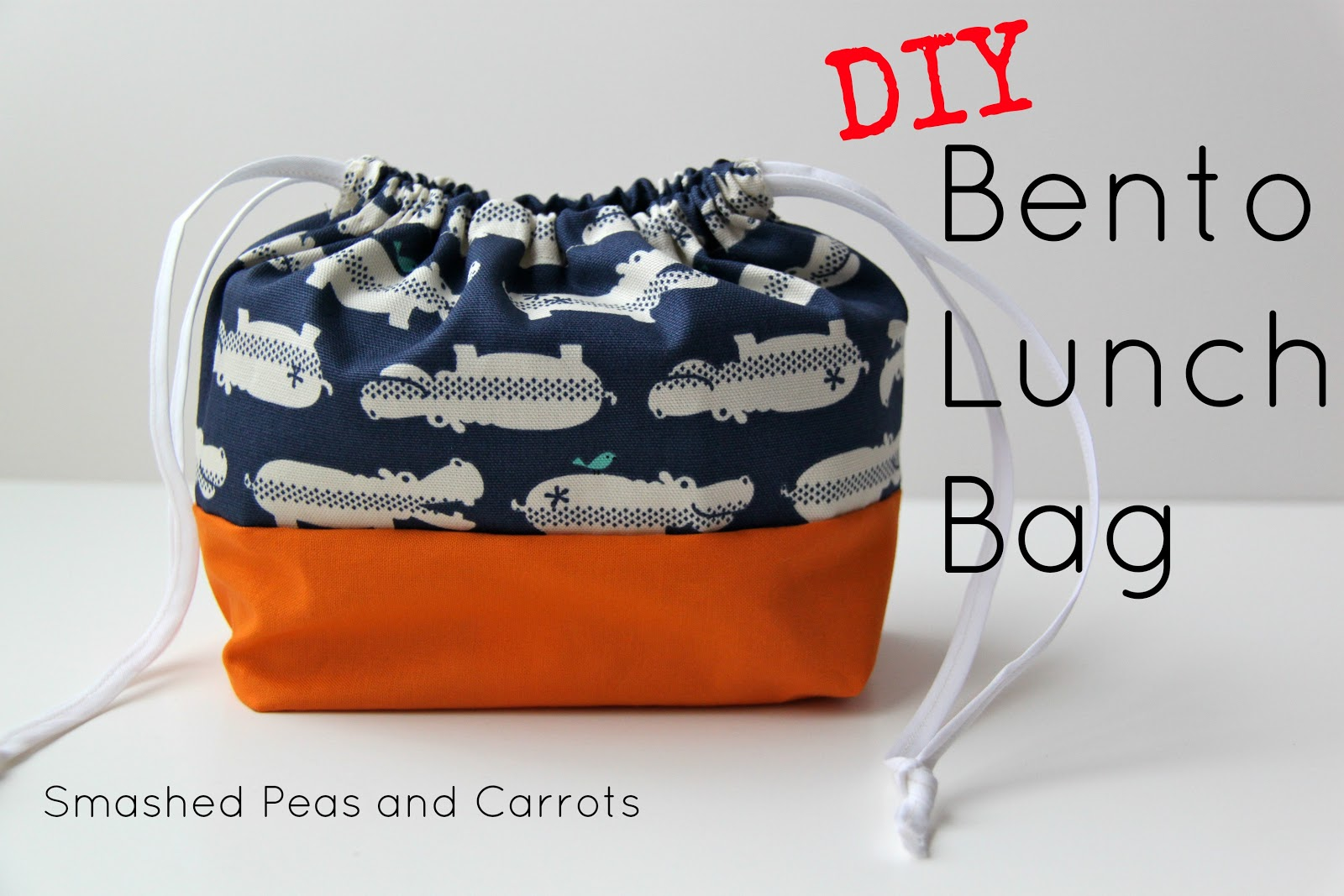 tutorial diy bento lunch bag smashed peas carrots. Black Bedroom Furniture Sets. Home Design Ideas