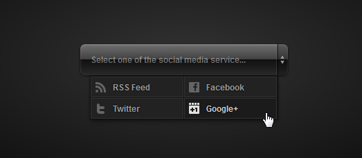 Pure CSS3 Glossy Social Media Drop Down Menu