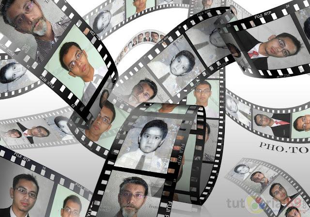 Cara cepat membuat efek foto 3D filmstrip