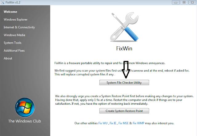 أداة fixwin لإصلاح جميع مشاكل ويندوز