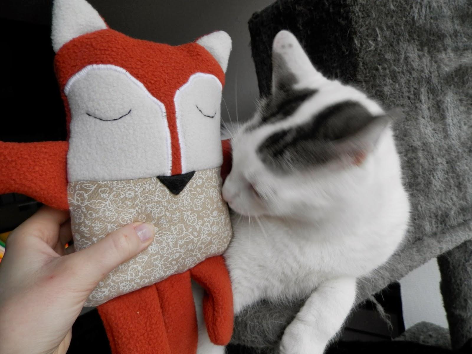 Coton et création : doudou renard