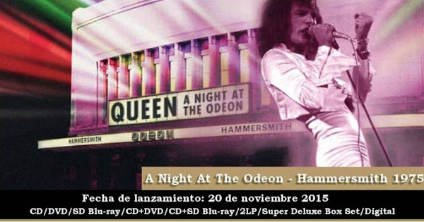 """QUEEN A NIGHT AT THE ODEON - HAMMERSMITH ODEON 1975"""
