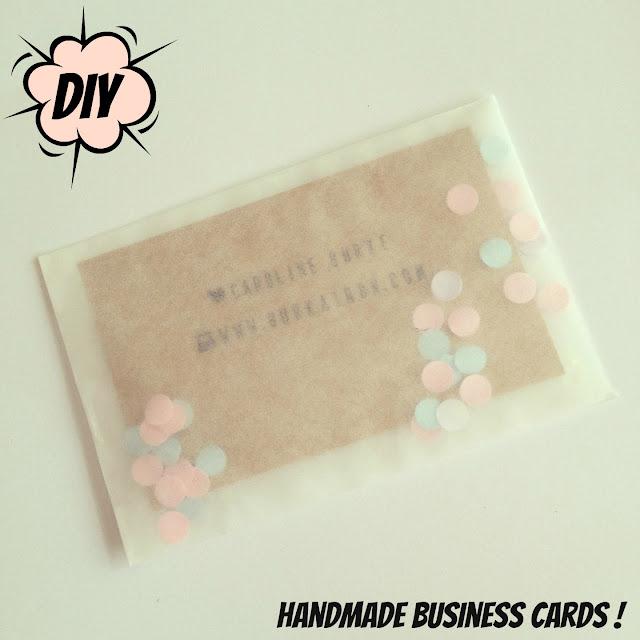 handmade crafty business cards DIY