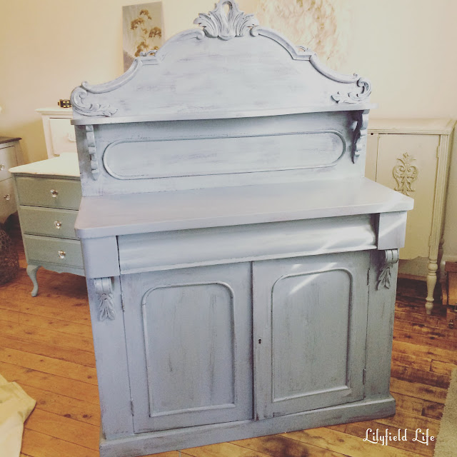 Vintage chiffonier from Lilyfield life painted in ASCP Paris grey