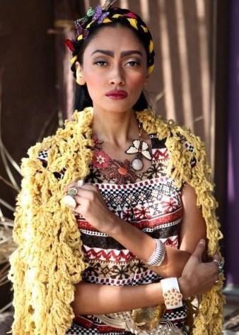 Frida Kahlo Fashion Magazine Collage