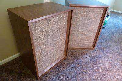 Vintage speakers for challenge blog