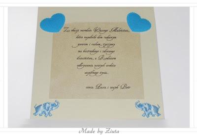 scrapbooking kartka narodziny dziecka gratulacje