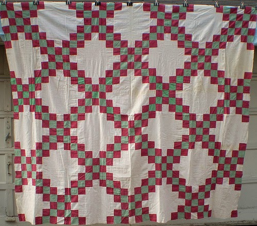 Moore About Nancy: Double Irish Chain quilt