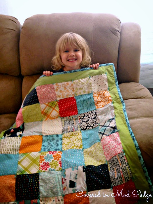 Covered in Mod Podge: Yarn Tied Quilt for Baby Brother {or longest ... : quilt with yarn ties - Adamdwight.com