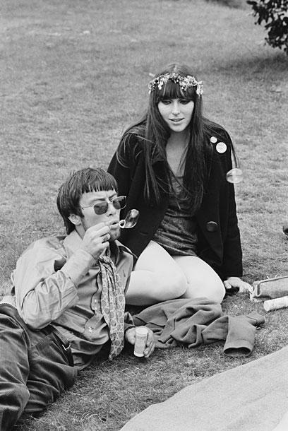 hippies bolhas de sabao no parque