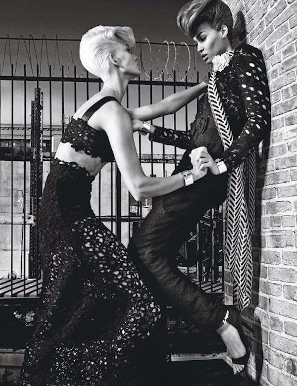 Supermodels Joan Smalls and Karlie Kloss grace the pages of W Magazine (November 2014)