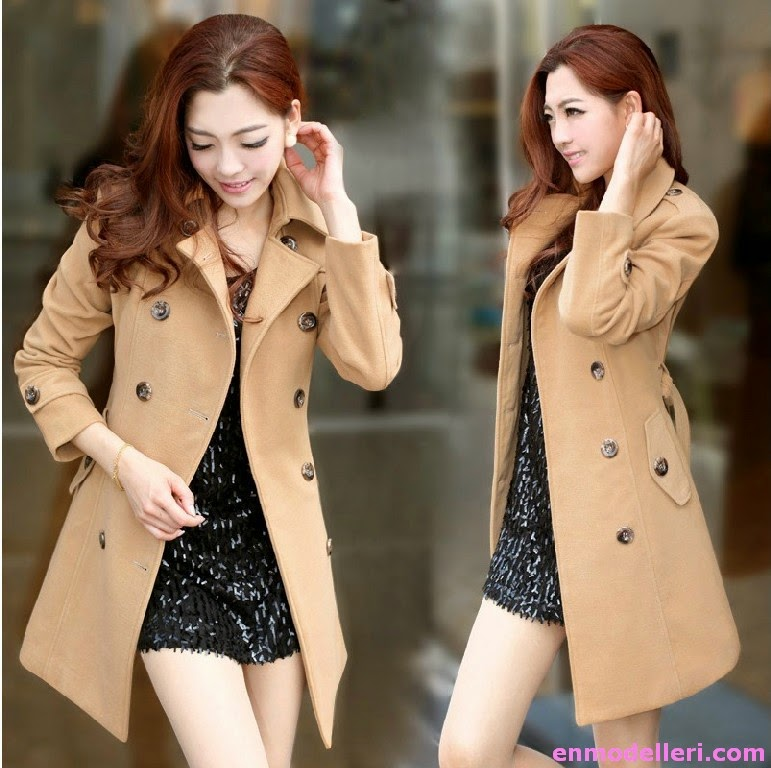 2014 Yeni Moda Bayan Kışlık Kaban Modelleri