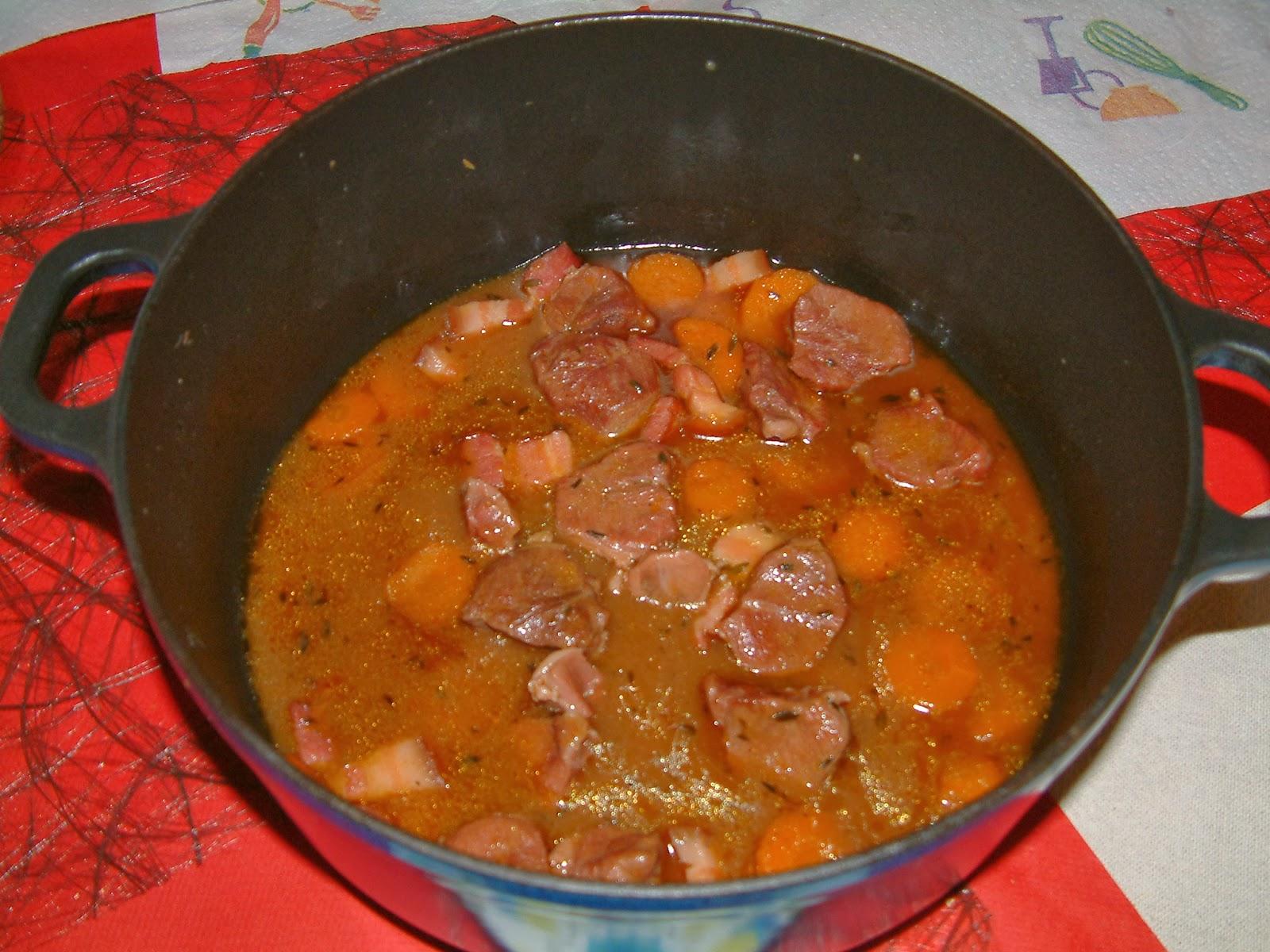 Au del des saveurs joues de porc a la biere brune - Cuisiner de la joue de porc ...