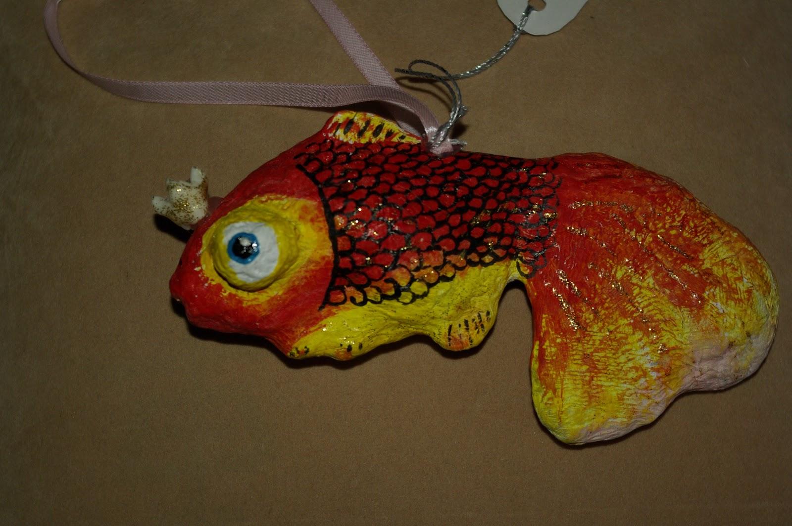 Рыба из папье-маше мастер класс