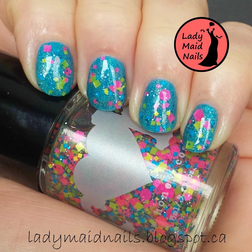 Lady Maid Nails: Born Pretty Holo, Cake