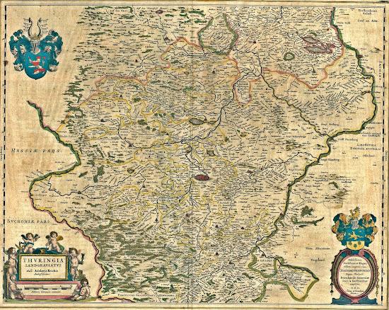 Blaeu 1645 - Thuringia Landgraviatus