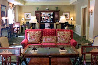 Die Lounge in der Fairmont Gold Klasse © Copyright Monika Fuchs, TravelWorldOnline