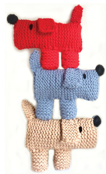 Scruff The Dog Learn To Knitting Kit - Embroidery Knitting