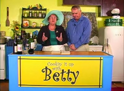 Betty welcomes special guest KLUK TV program director Sergio Ferleone on Cooking it up with Betty!