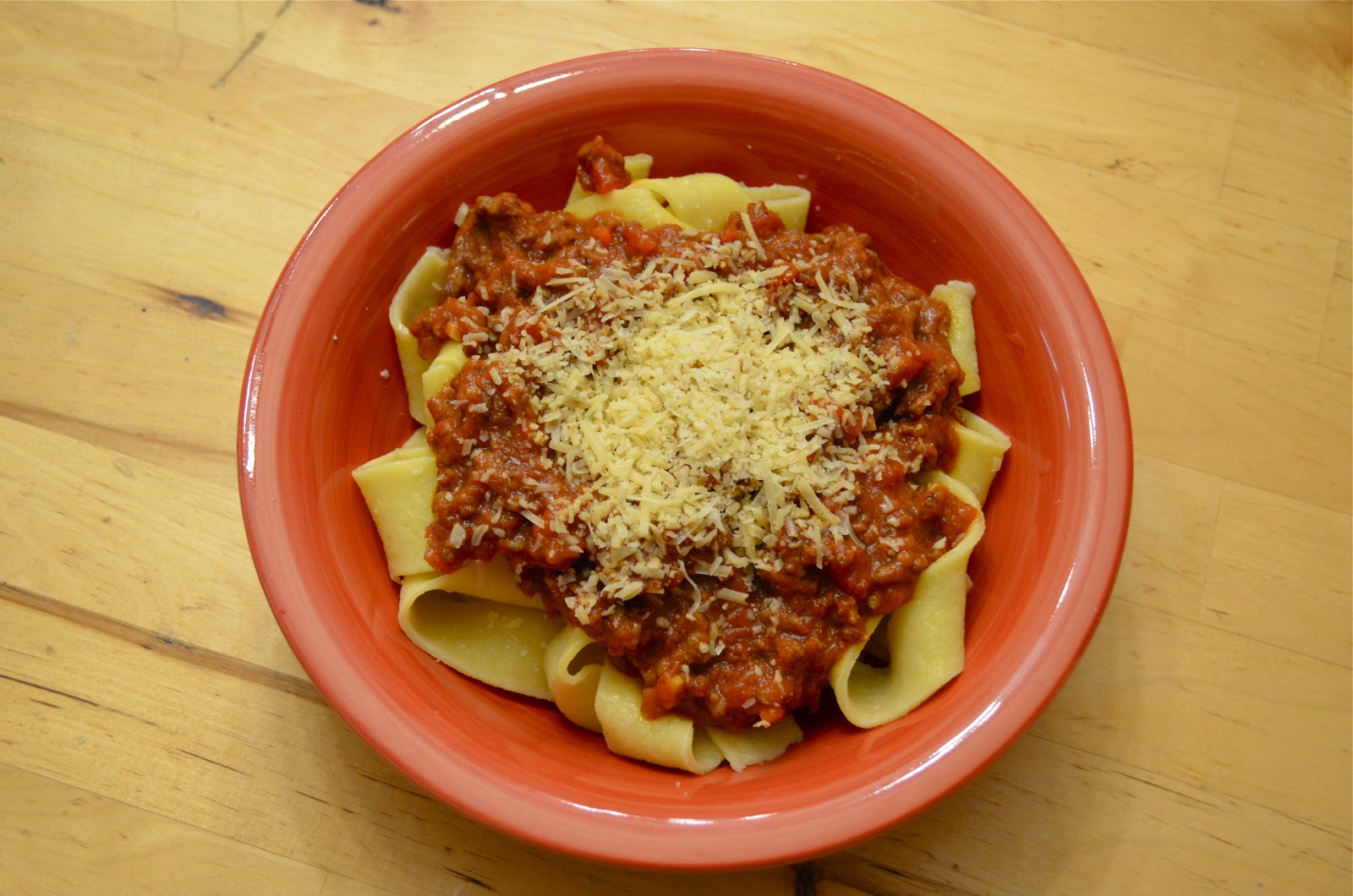 Just Shmying Around: Homemade Pappardelle with Bolognese Sauce