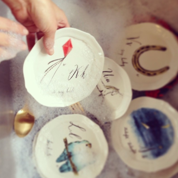 Wantwishanthro day 12 calligrapher canap plates for Calligrapher canape plate anthropologie