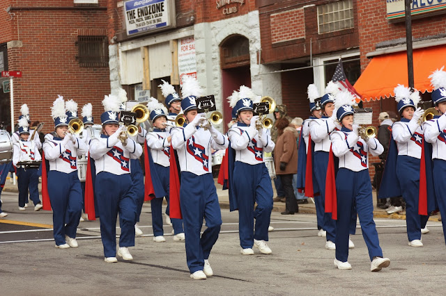 Brass section of marching band