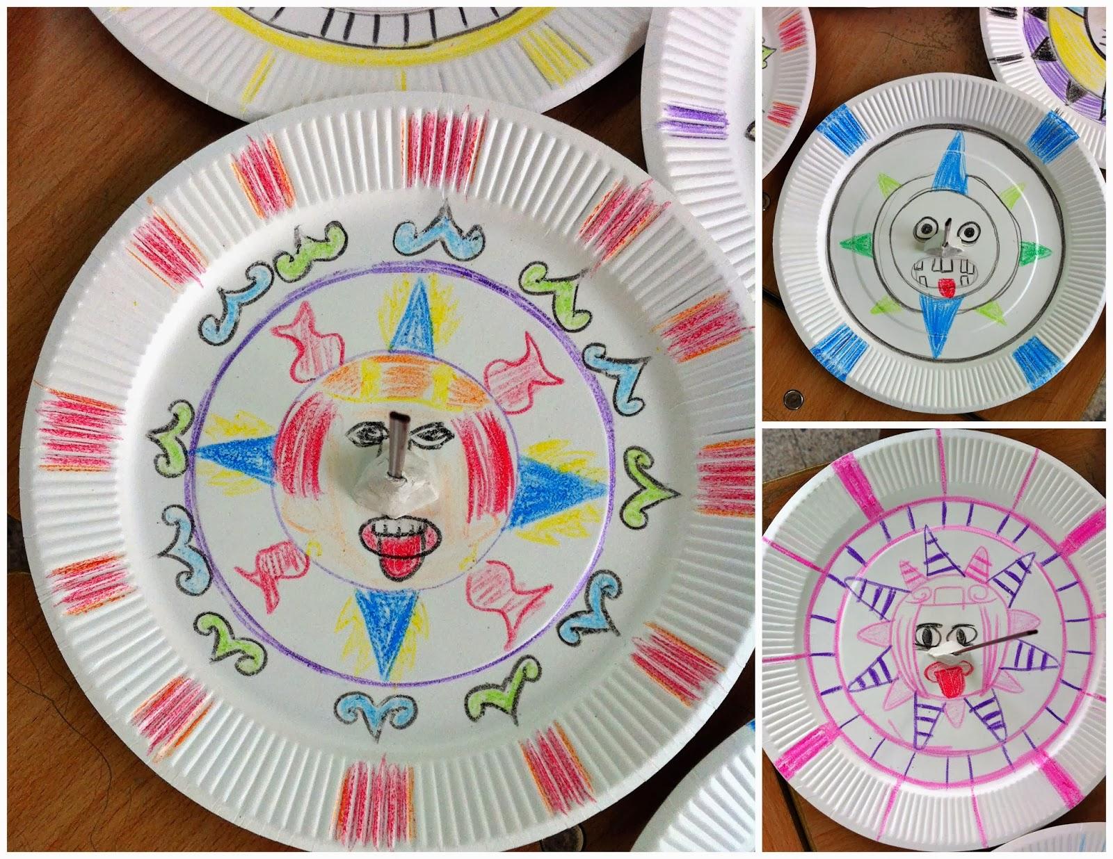 Aztec sundial craft