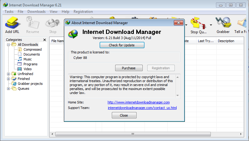 Internet Download Manager (IDM) 6.21 Build 3 Full Patch