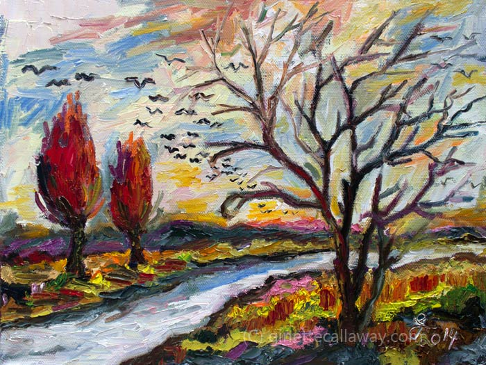 landscape oil painting by Ginette Callaway
