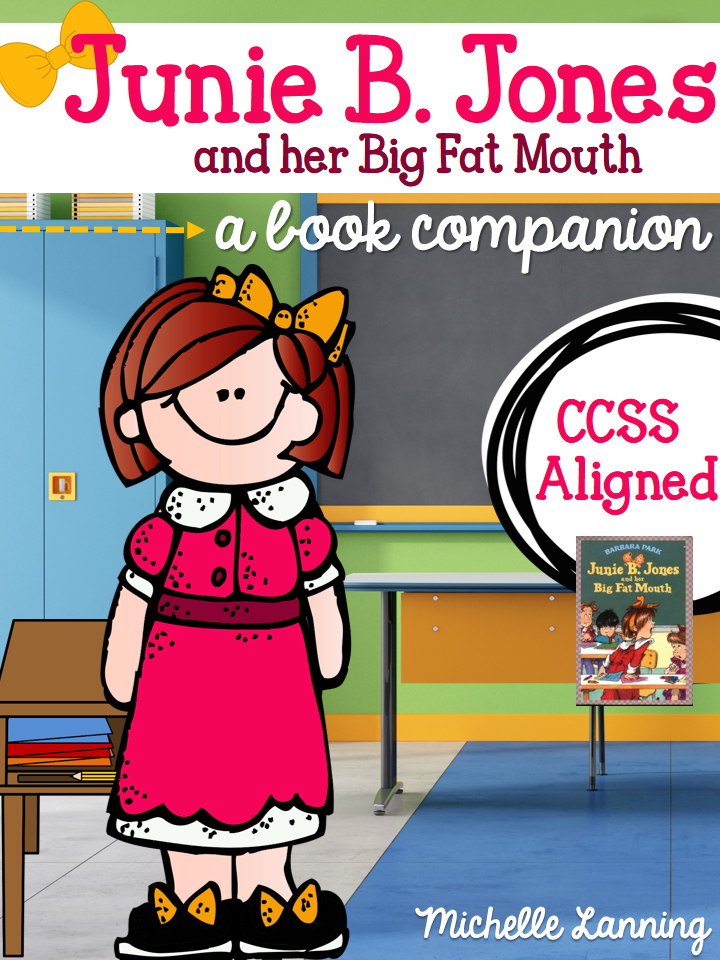 http://www.teacherspayteachers.com/Product/Junie-B-Jones-and-her-Big-Fat-Mouth-a-Reading-Companion-1282002