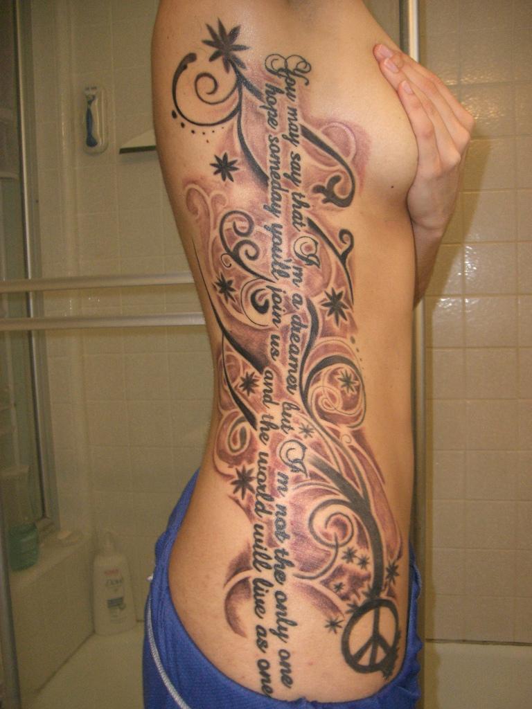 Rib Tattoos Of Names | Great Tattoos