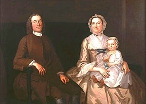 National art gallery paintings of 18th century american families 1750 john wollaston american colonial era artist 1710 1775 family group sciox Images