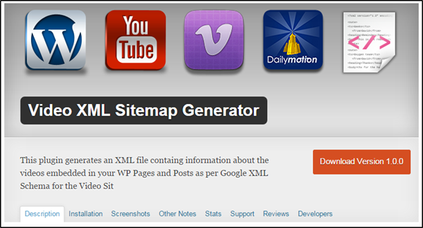 Video XML Sitemap Generator