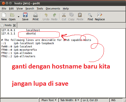 how to change hostname in ubutu