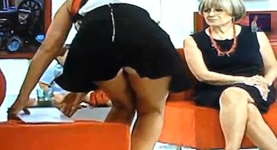 Cristina Ferreira mostra o rabo na televisão em directo
