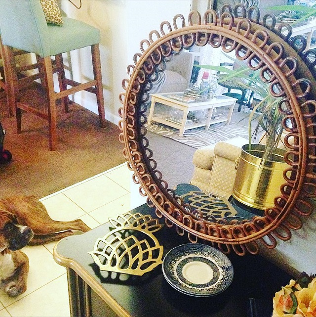 #thriftscorethursday Week 83 | Instagram user: love_recycled shows off this Brass Mirror