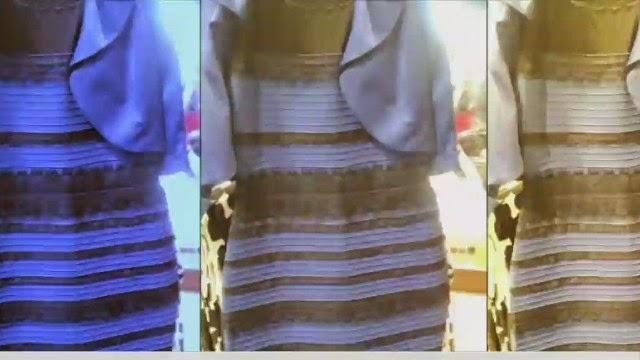 Vestido dorado azul explicacion