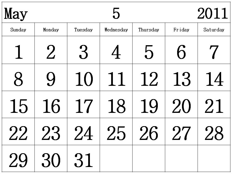Free Printable Calendar 2011