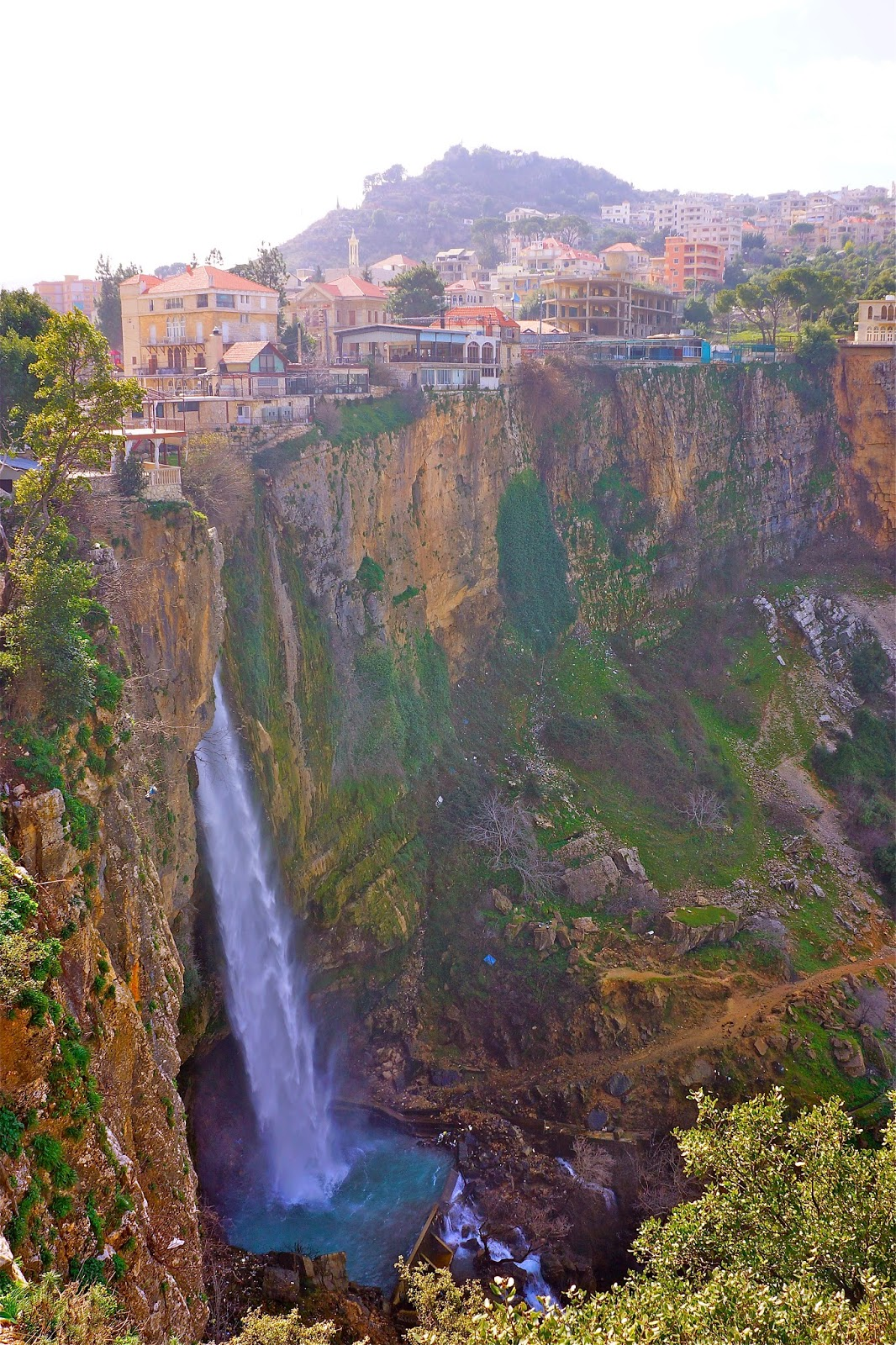 Picture of the highest waterfall in Jezzine, South Lebanon.