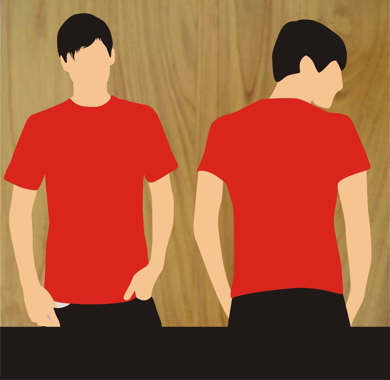 Vizart Clothing Kaos Polos Merah Gambar Baju