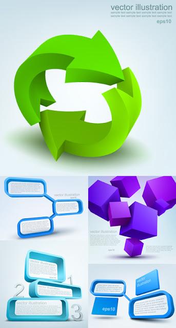 3D Object Illustrations