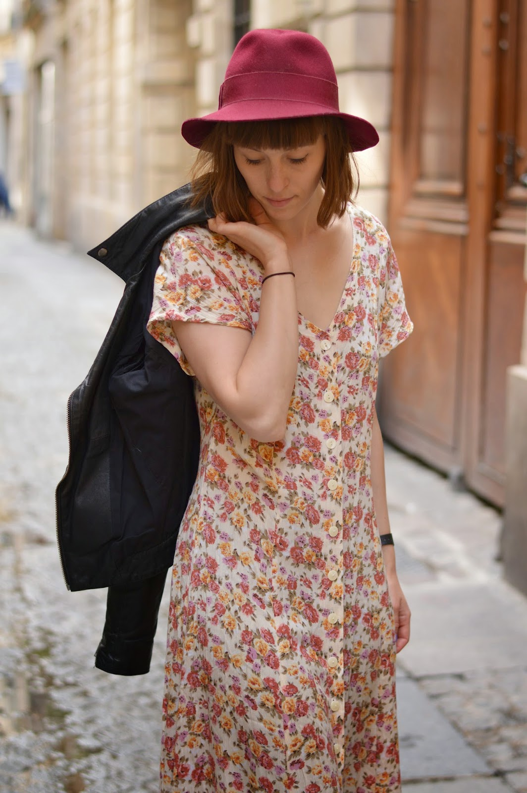 Long vintage floral summer dress