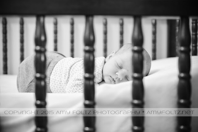 photo of newborn in crib