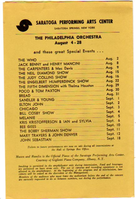 Concerts from 1971