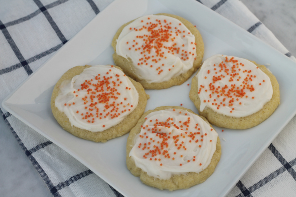 Orange Cookies with Orange Cream Cheese Frosting