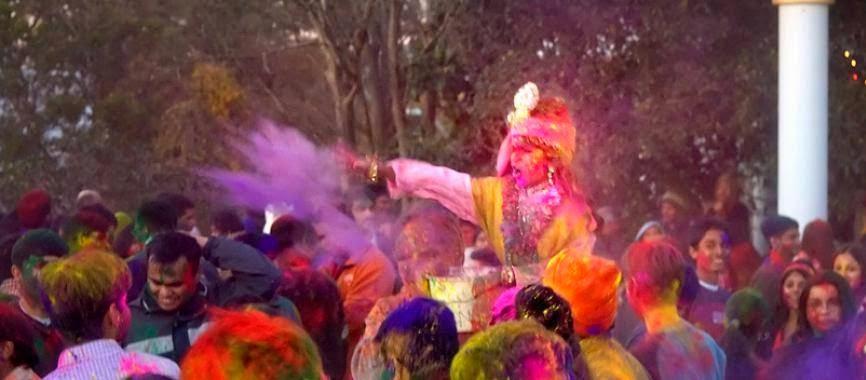 Kripalu Ji Maharaj's Holi 2014 in Austin at Radha Madhav Dham USA